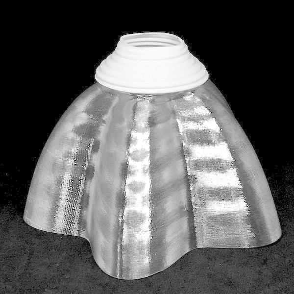 透明な LED電球カバー シェードのみ 桜形 星形の傘 直径12cm 裸電球にかぶせる おしゃれな照明カバー きらめくランプシェード dasyn 02