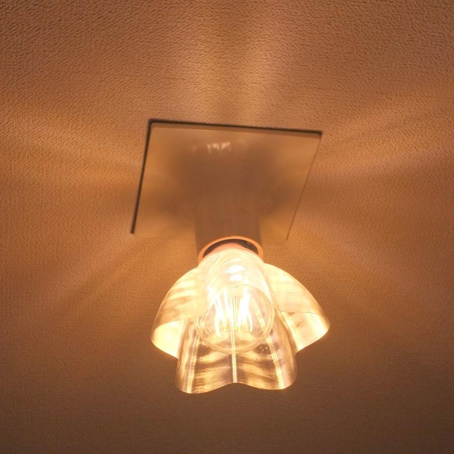 透明な LED電球カバー シェードのみ 桜形 星形の傘 直径12cm 裸電球にかぶせる おしゃれな照明カバー きらめくランプシェード dasyn 03