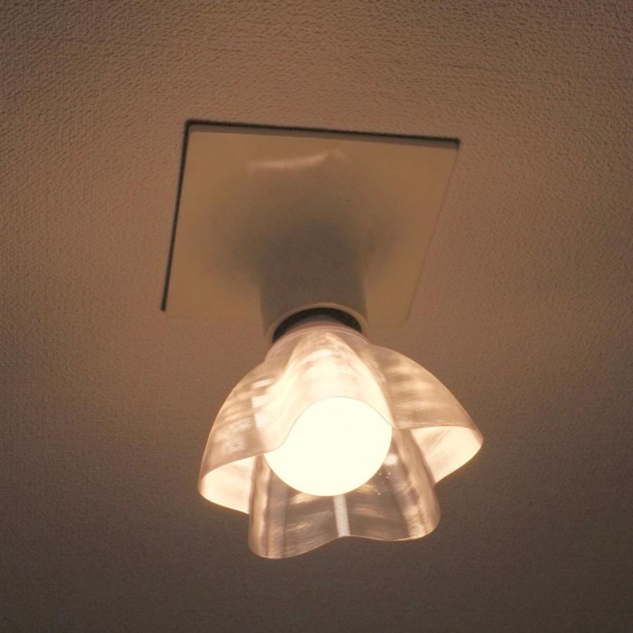透明な LED電球カバー シェードのみ 桜形 星形の傘 直径12cm 裸電球にかぶせる おしゃれな照明カバー きらめくランプシェード dasyn 04