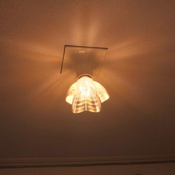透明な LED電球カバー シェードのみ 桜形 星形の傘 直径12cm 裸電球にかぶせる おしゃれな照明カバー きらめくランプシェード dasyn 05