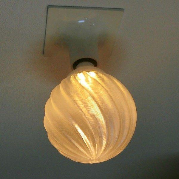 レンタル 3Dデザイン電球 IIng 40W相当 直径10cm おしゃれに きらめき輝く 電球色 昼白色 裸電球 口金E26 大型ボール球型LED電球 天井直付け シーリングライト用 dasyn 09