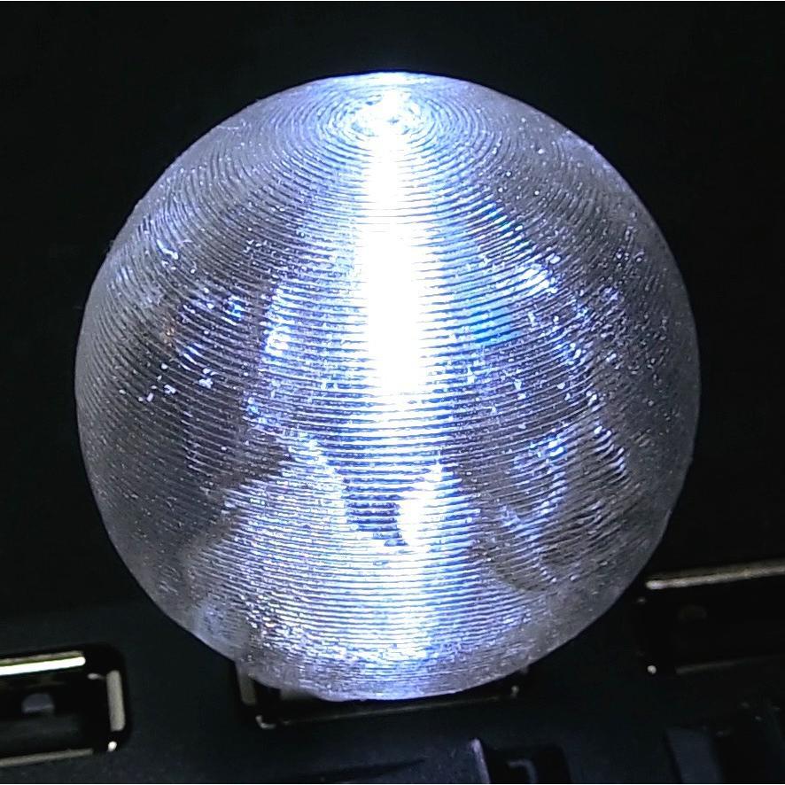 3Dデザインランプ 地球儀型 USB ミニライト 白色 (3D 印刷シェードつき)|dasyn