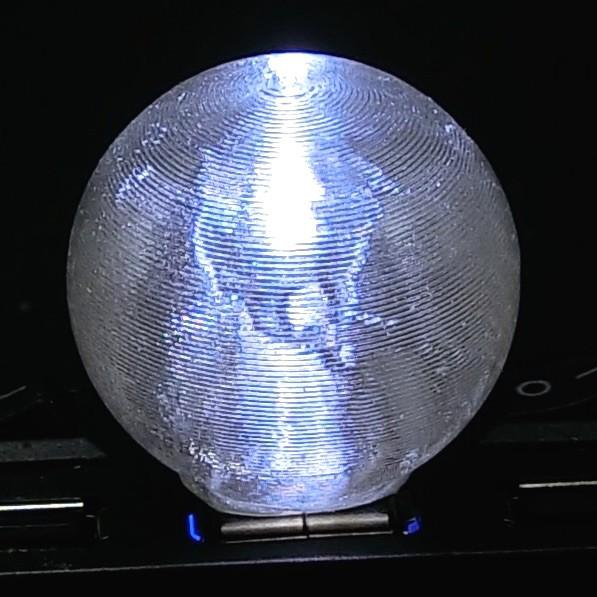 3Dデザインランプ 地球儀型 USB ミニライト 白色 (3D 印刷シェードつき)|dasyn|04