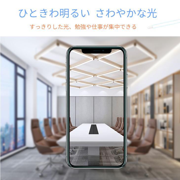 LED蛍光灯 40W形 直管120cm 約2200lm ガラスタイプ 照射角度 200度 グロー式工事不要 消費電力16W 超省エネタイプ  片側給電|dataworks119|02
