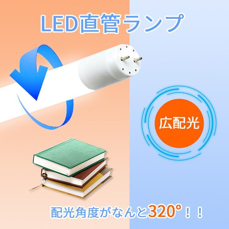 LED蛍光灯 40W形 直管120cm 約2200lm ガラスタイプ 照射角度 200度 グロー式工事不要 消費電力16W 超省エネタイプ  片側給電|dataworks119|03