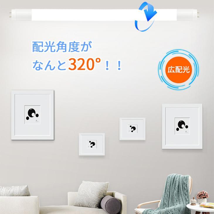 LED蛍光灯 40W形 直管120cm 約2200lm ガラスタイプ 照射角度 200度 グロー式工事不要 消費電力16W 超省エネタイプ  片側給電|dataworks119|04