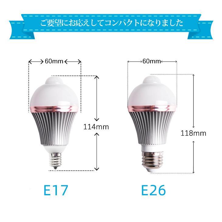 人感センサーライト LED電球 人感センサー 60W E26/E17 自動点灯 自動消灯 工事不要 照明 節電 2個セット dataworks119 08