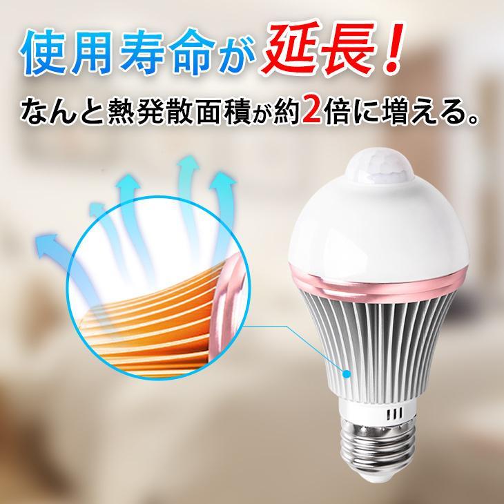 人感センサーライト LED電球 人感センサー 60W E26/E17 自動点灯 自動消灯 工事不要 照明 節電 2個セット dataworks119 09