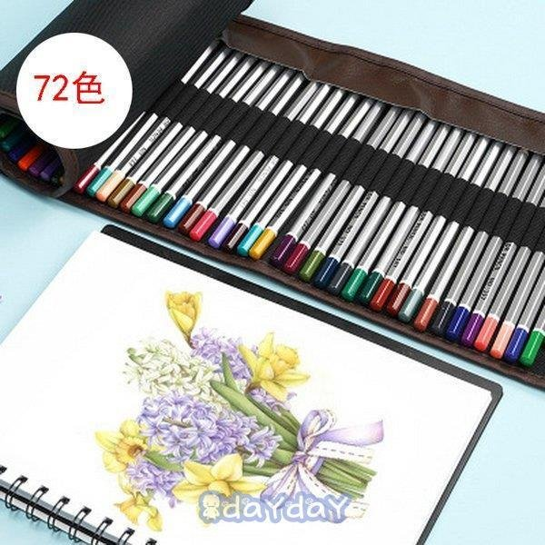 72色セット 色鉛筆 カラーペン 油性色鉛筆 絵の具 アート鉛筆 スケッチ用 プレゼント 収納ケース ギフト 文房具 塗り絵用 子供 学生 dayday-shop