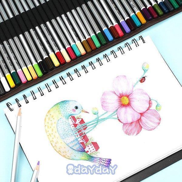 72色セット 色鉛筆 カラーペン 油性色鉛筆 絵の具 アート鉛筆 スケッチ用 プレゼント 収納ケース ギフト 文房具 塗り絵用 子供 学生 dayday-shop 15