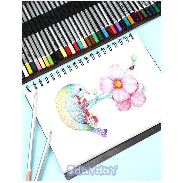 72色セット 色鉛筆 カラーペン 油性色鉛筆 絵の具 アート鉛筆 スケッチ用 プレゼント 収納ケース ギフト 文房具 塗り絵用 子供 学生 dayday-shop 10