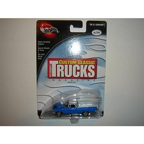 2003 100% Hot Wheels (ホットウィール) Prefer赤 Petersen's Custom Classic トラック (トラック) s '59 El Camino 青/白い #1/4 ミニカ