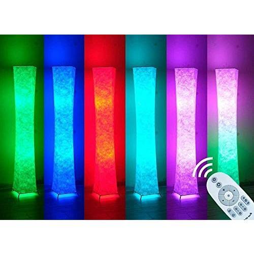 Yinleader スタンドライト フロアスタンド フロアライト フロアランプ 調光と色のロマンチックな楽しい雰囲 和風