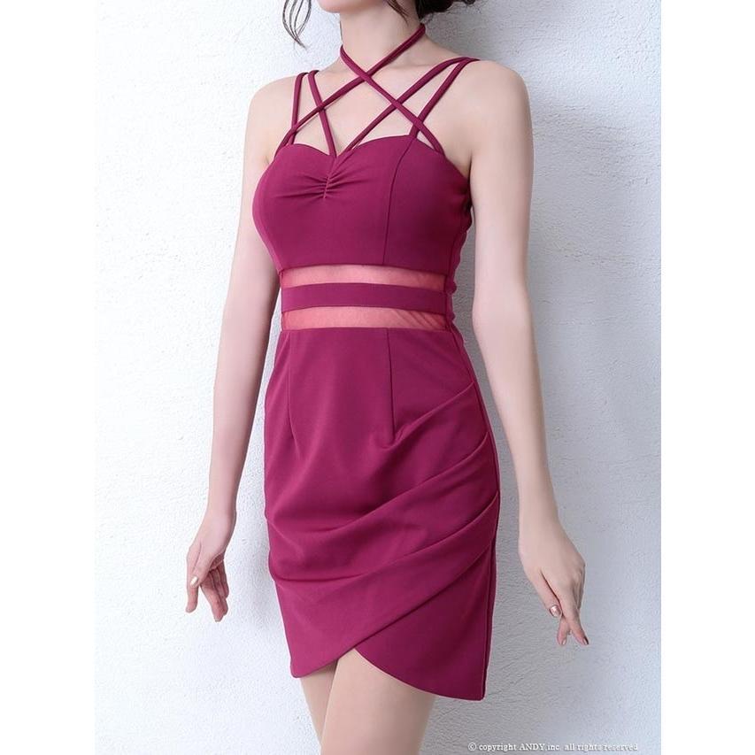 cbccc815675e2 ドレス キャバドレス ワンピース ナイトドレス Andy S M デコルテクロス ...