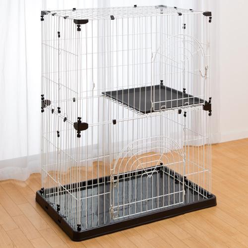 DCMブランド キャットケージ(2段)/ブラウン 2段