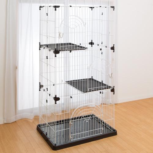 DCM キャットケージ(3段)/ブラウン 3段