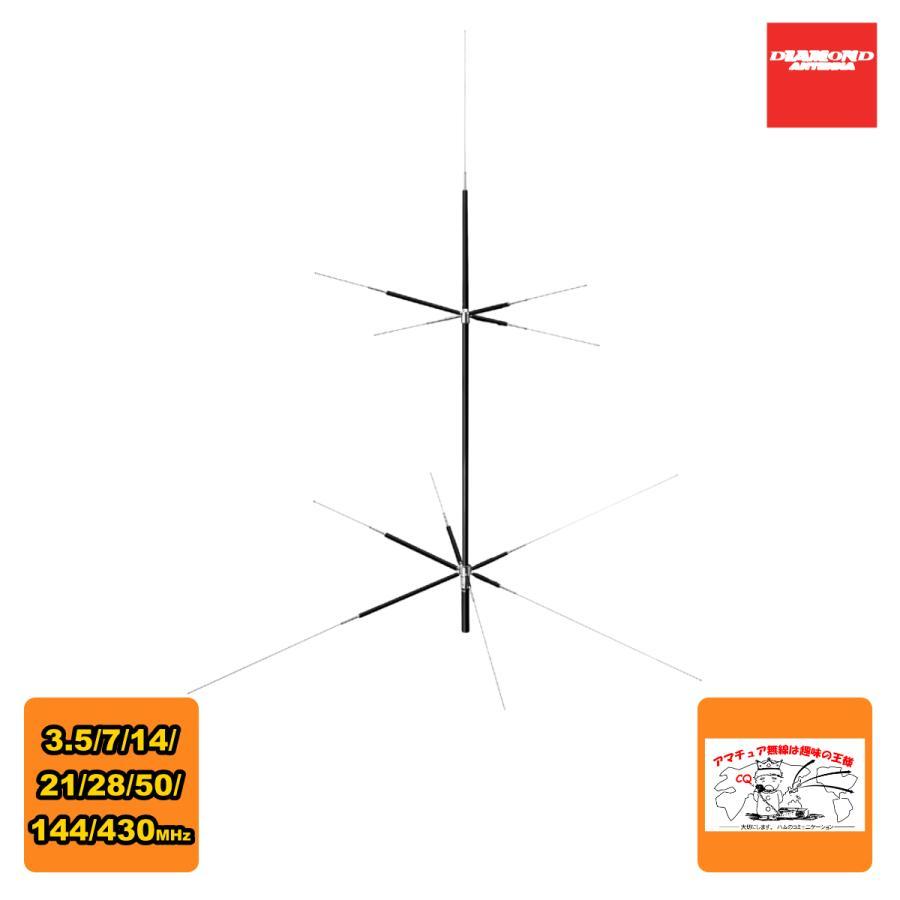CPVU8 ダイヤモンド 3.5/7/14/21/28/50/144/430MHz 8バンドグランドプレーンアンテナ 送料無料