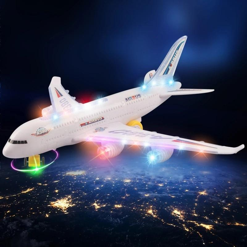 子ども用おもちゃ ライトが光る飛行機のおもちゃ エアバス 航空機 ...