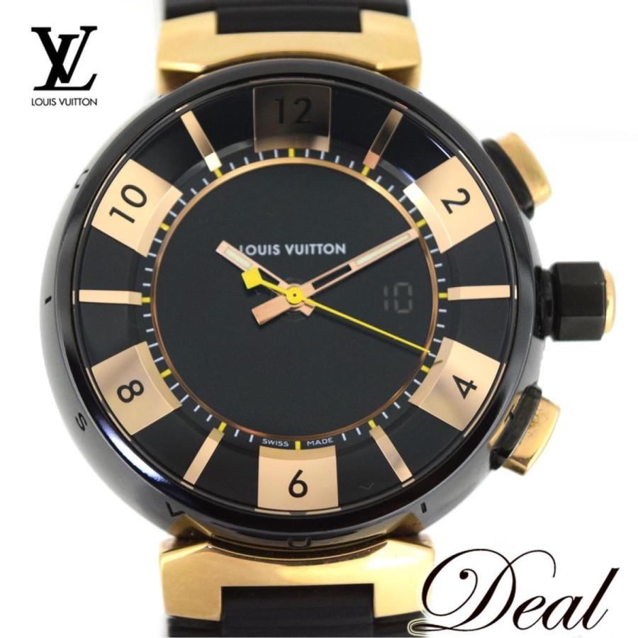 【本日特価】 ルイヴィトン PG VUITTON ルイヴィトン タンブールインブラック LOUIS Q118N メンズ 腕時計 LOUIS VUITTON, Rack World:dda88131 --- airmodconsu.dominiotemporario.com