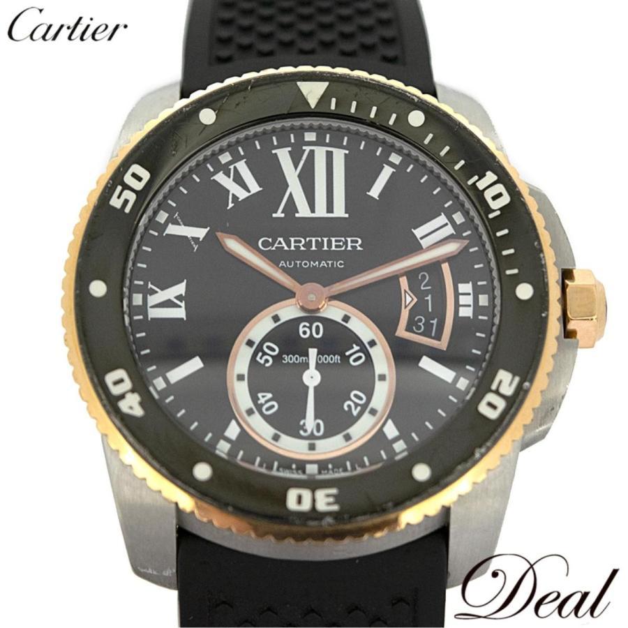【メーカー直売】 カルティエ カルティエ W7100055 カリブル ドゥ カルティエ ダイバー W7100055 ダイバー PGベゼル 腕時計, 立川市:4dd9c82e --- airmodconsu.dominiotemporario.com