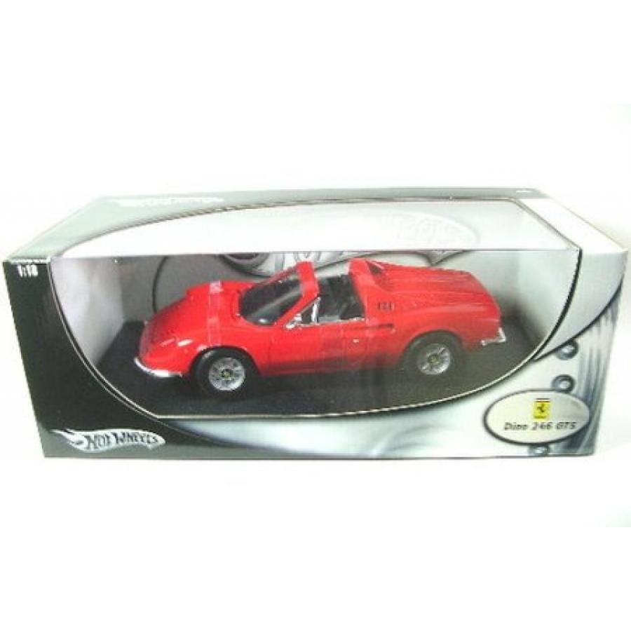 【送料無料】ミニカー Hot Wheels 1/18 Ferrari Dino 246 GTS Elite Version die-cast 赤 輸入品