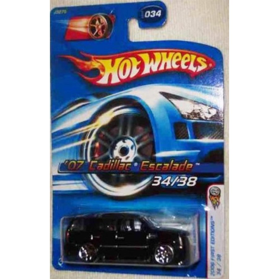 【送料無料】ミニカー CADILLAC ESCALADE Hot Wheels 2006 First Editions 1:64 Scale 黒 2007 Cadillac Escalade Die Cast Truck #034 輸入品