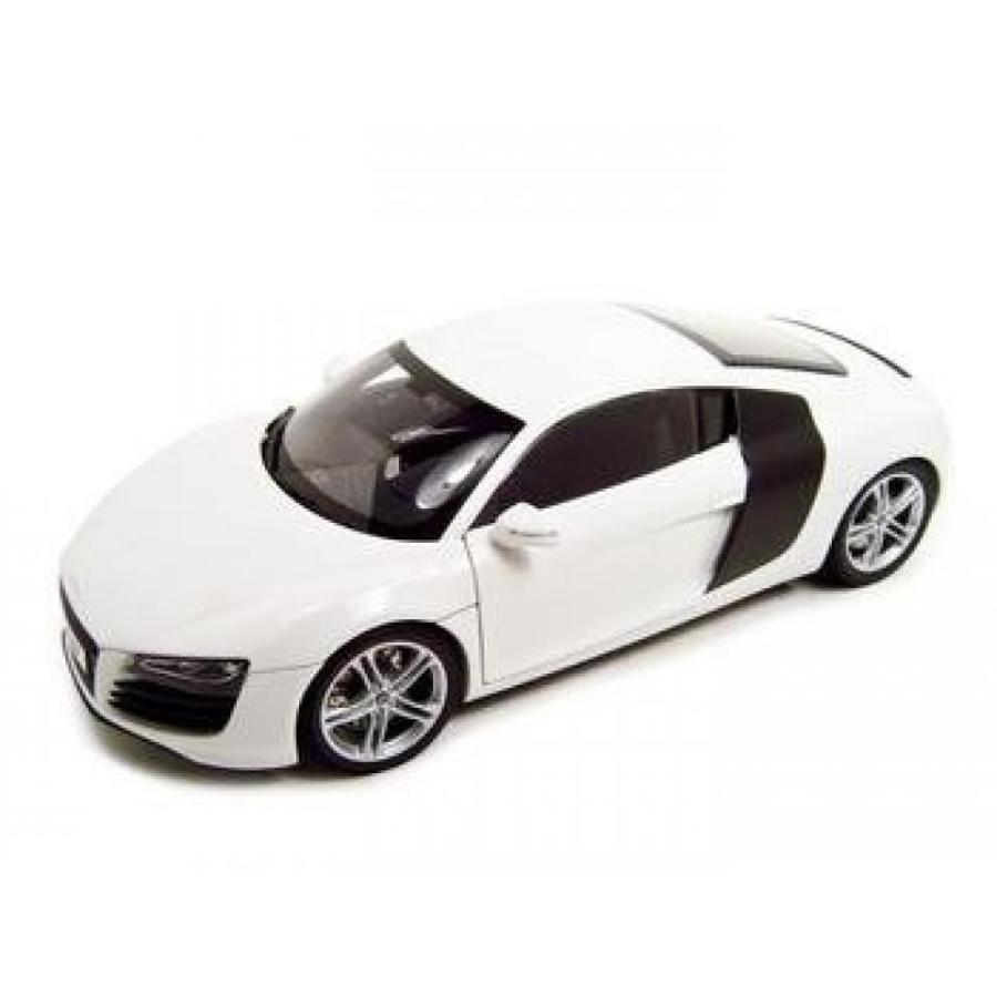 アウディ ミニカー KYOSHO 09213W 1:18 AUDI R8 DIECAST CAR 白い 輸入品