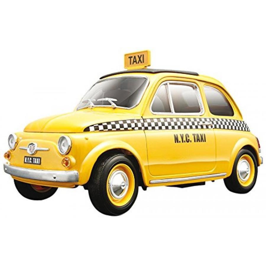 【送料無料】ミニカー Fiat 500 Taxi Cab 1/18 Diecast Model Car by Bburago 輸入品