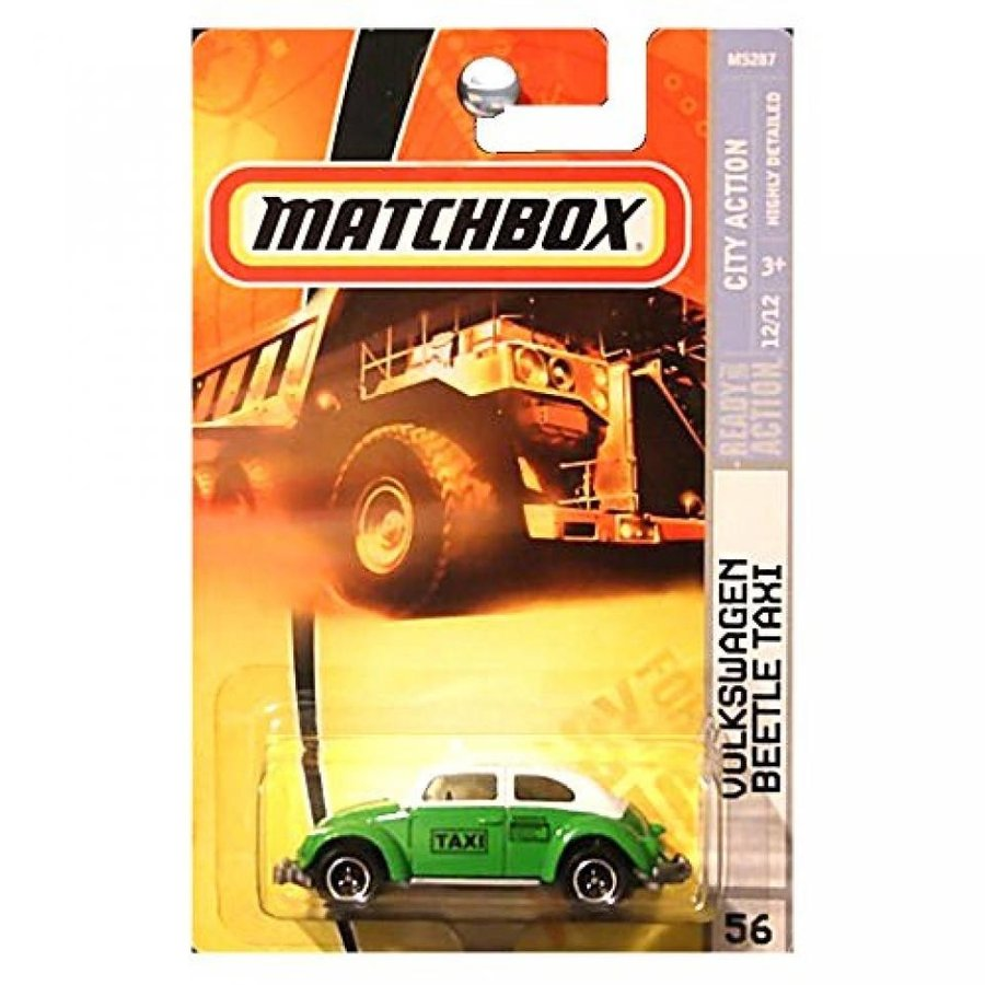 ミニカー・モデルカー Matchbox Volkswagen VW Beetle Taxi 緑 And 白い 2008 56 City Action Series 12 of 12 1:64 Scale Collectible Die Cast Car