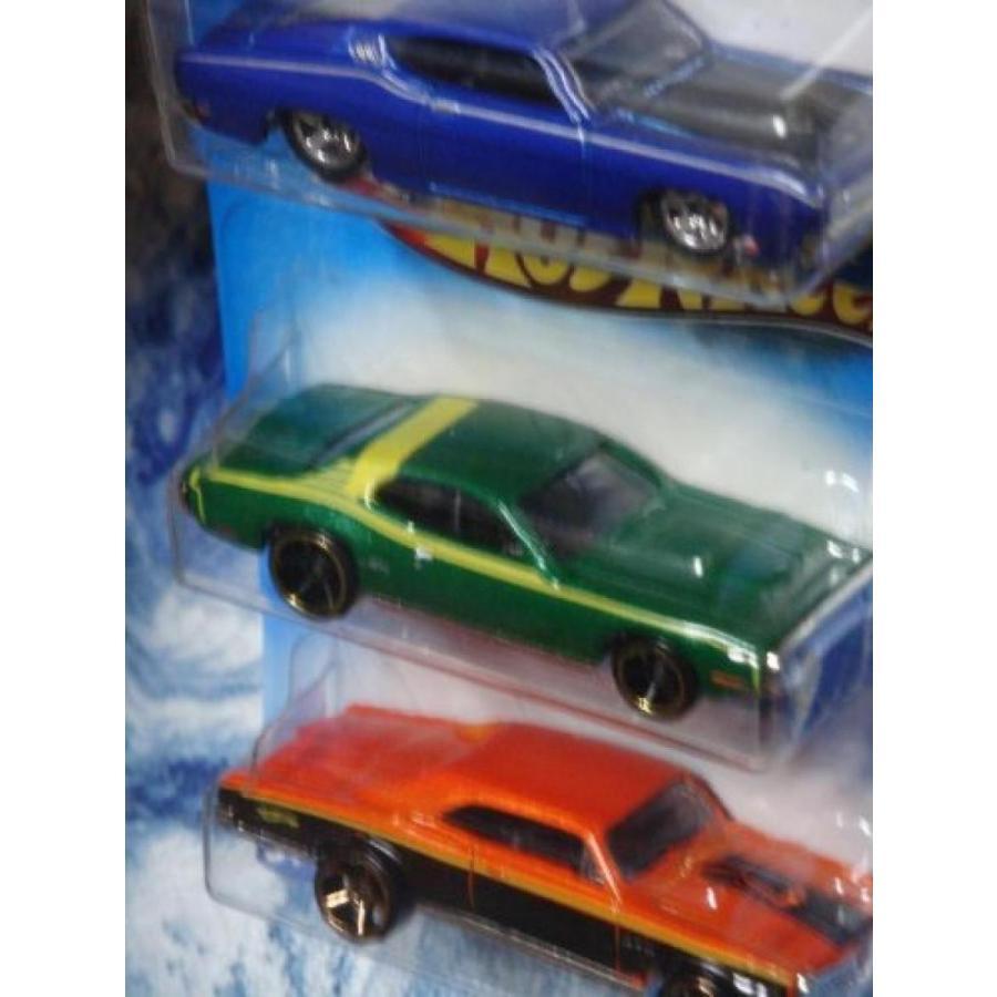【送料無料】ミニカー Hot Wheels Detailed Diecast 69 Ford Torino Talladega - 71 Plymouth GTX - 67 Pontiac GTO FTE 1/64 Scale 輸入品