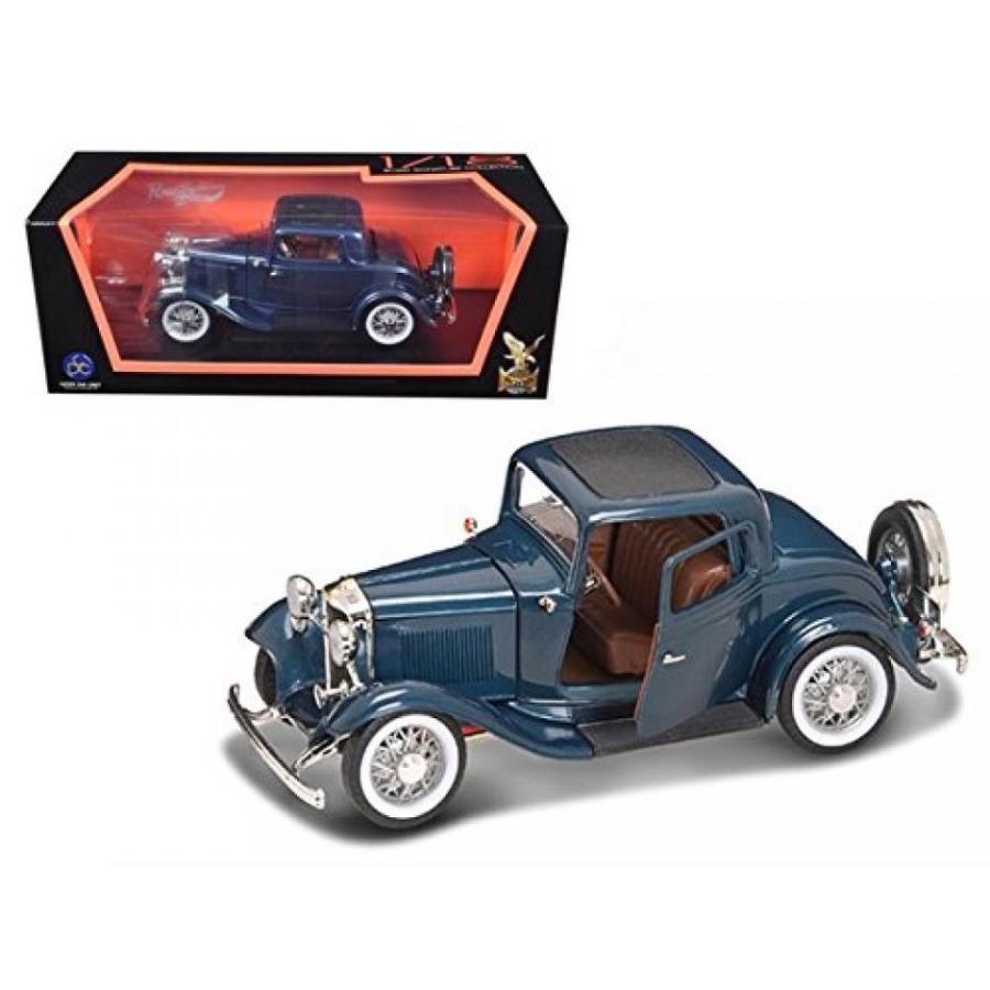 【送料無料】ミニカー 1932 Ford 3 Window Coupe 青 1:18 Diecast Car Model 輸入品