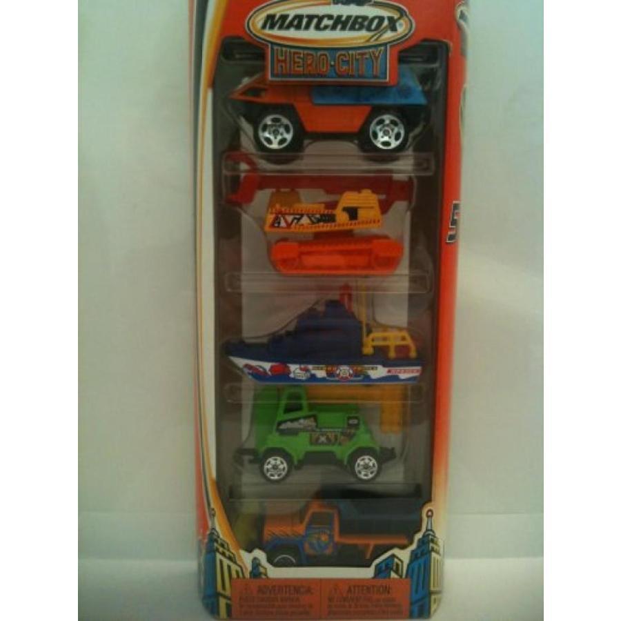 ミニカー・モデルカー Matchbox Hero City 5 Pack Gift Set City Works Vehicles 2004 輸入品