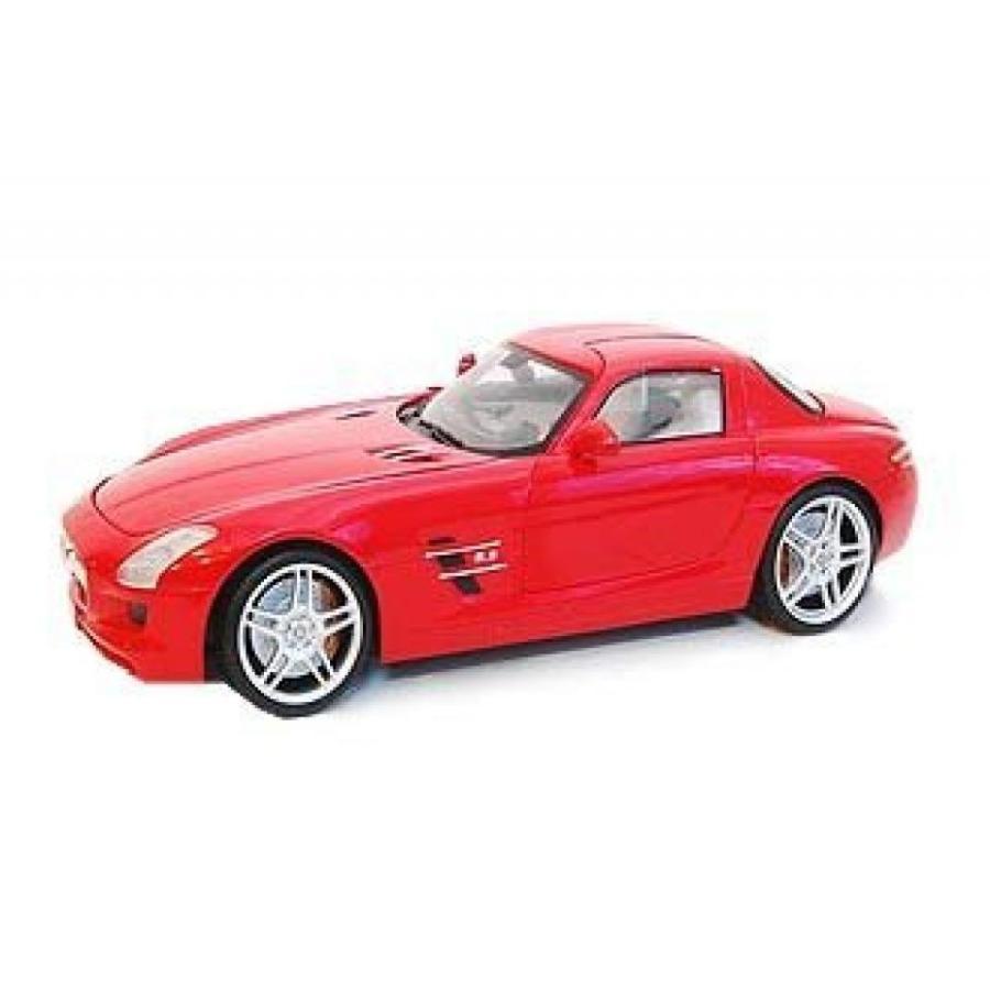 【送料無料】ミニカー Mercedes-Benz SLS AMG (Kit) in 赤 (1:18 scale) Diecast Model Car 輸入品