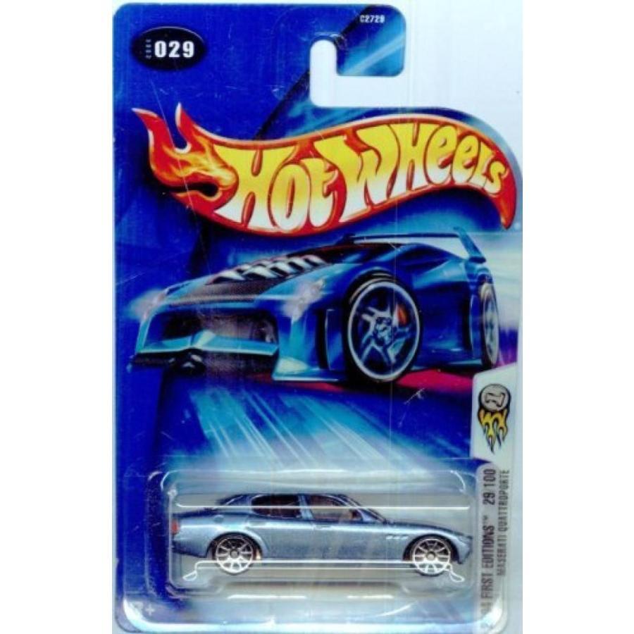 【送料無料】ミニカー Hot Wheels 2004 First Editions Maserati Quattroporte 29/100 青 029 1:64 Scale 輸入品