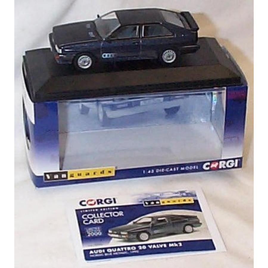 アウディ ミニカー corgi vanguards audi quattro valve MK2 nordic metallic 青 1990 car 1.43 scale limited edition diecast model by Corgi 輸入品