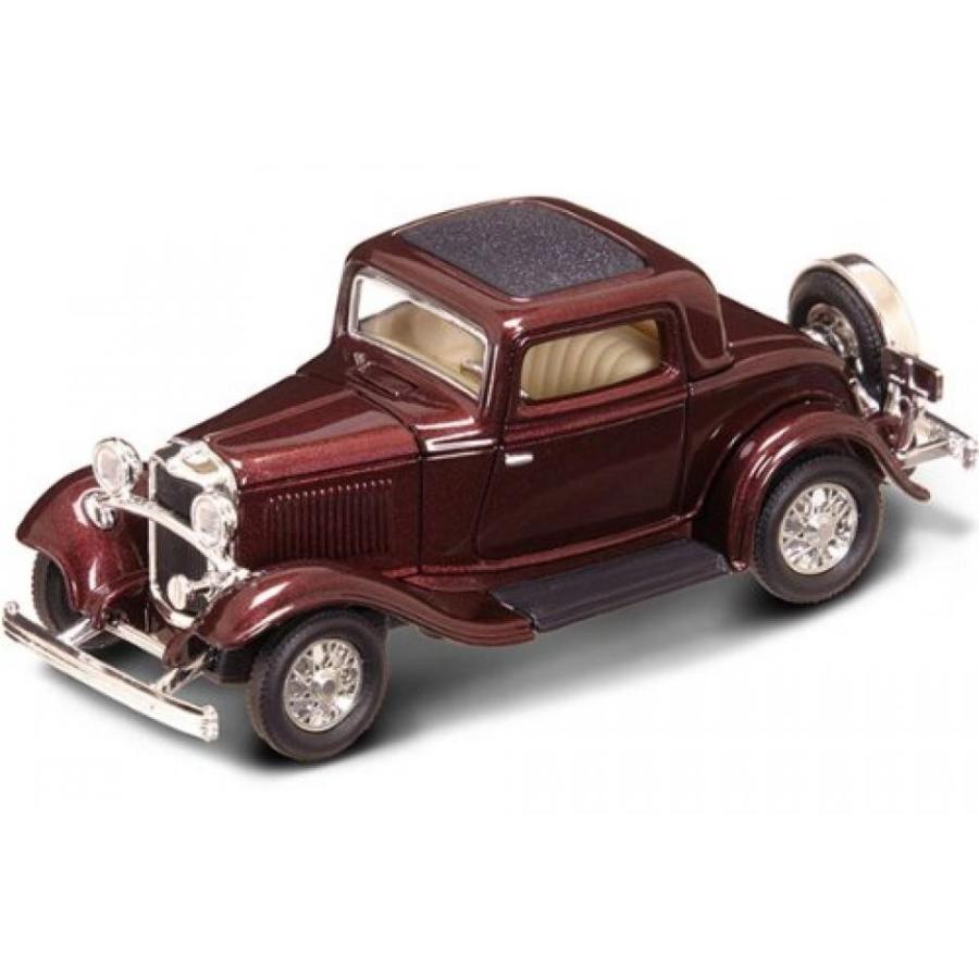 フォード ミニカー 1932 Ford 3 Window Coupe 1:43 Scale Burgundy 輸入品