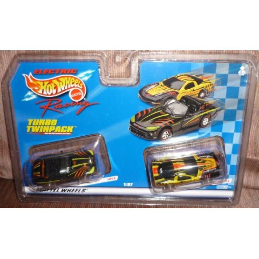 【送料無料】ミニカー #96774 Hot Wheels Electric Racing Turbo Twinpack,Viper and Corvette 1/87 Scale Slot Cars 輸入品