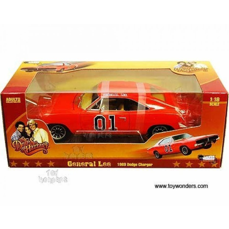 【送料無料】ミニカー Amm964 Auto World 銀 Screen Machines - The Dukes of Hazzard General Lee Dodge Charger #01 (1969, 1:18, オレンジ) Amm964