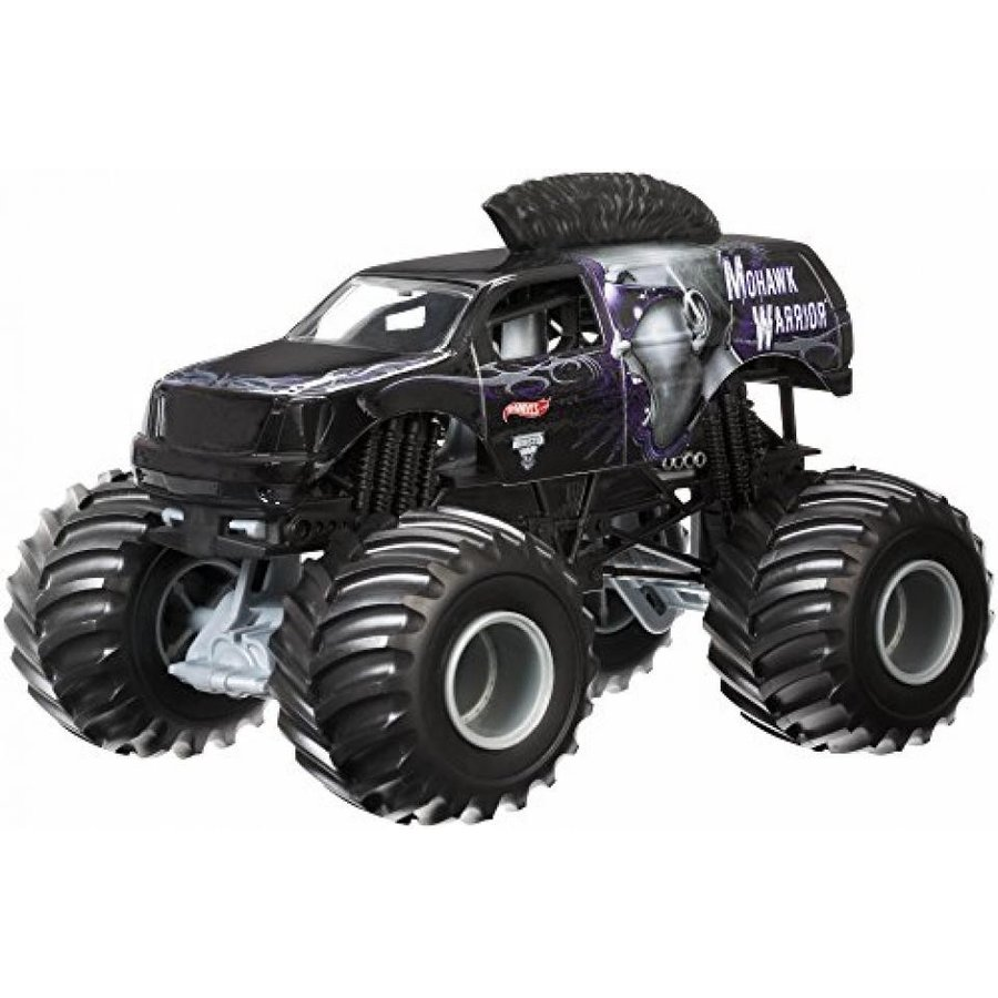 【送料無料】ミニカー Hot Wheels Monster Jam Mohawk Warrior Die-Cast Vehicle, 1:24 Scale 輸入品