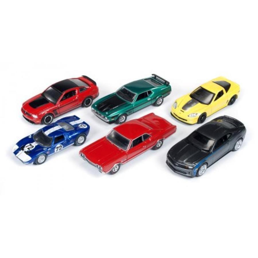 【送料無料】キャデラック ミニカー Autoworld Muscle Cars Release A 64003 Set Of 6 Cars 1/64 by Autoworld 64003A 輸入品