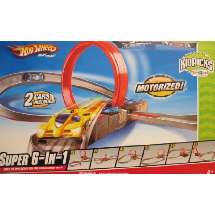 【送料無料】ミニカー HOT WHEELS 'MOTORIZED' SUPER 6 in 1 CAR RACING TRACK Set w 2 CARS Kidspicks TOYS