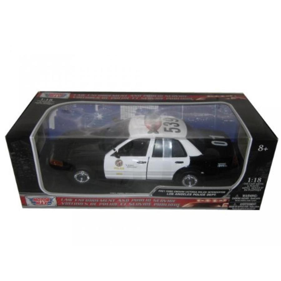 フォード ミニカー 2001 Ford Crown Victoria Los Angeles Police Department LAPD Car 1/18 by Motormax 73539 輸入品