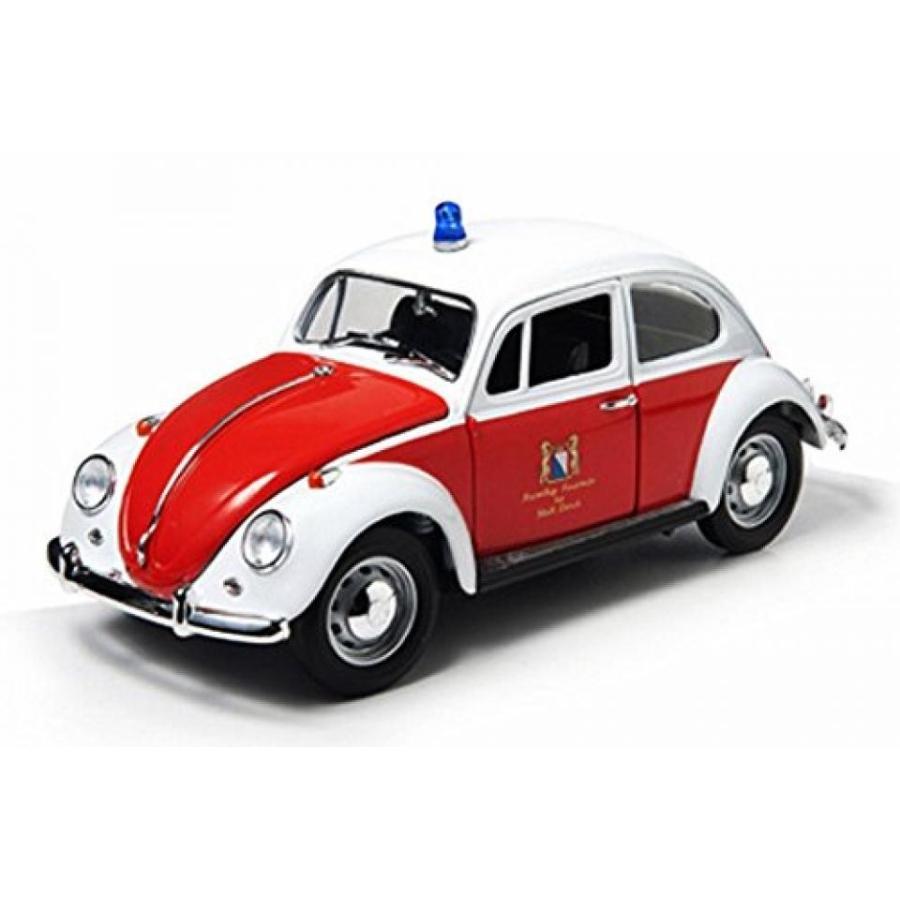 【送料無料】ミニカー 1967 Volkswagen Beetle Kafer, Zurich Switzerland Fire Dept., オレンジ & 白い - 緑light 12854 - 1/18 Scale Diecast Model Toy