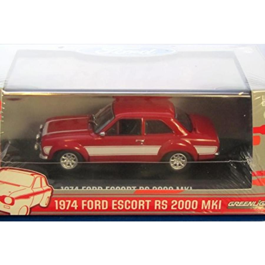フォード ミニカー 1974 Ford Escort RS 2000 MKI 赤 1/43 by 緑light 86066 輸入品