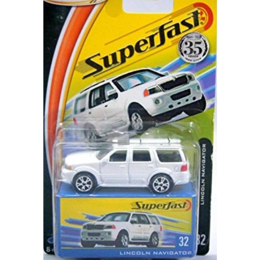 【送料無料】ミニカー LINCOLN NAVIGATOR Matchbox 35th Anniversary 2004 Superfast Series 白い Lincoln Navigator 1:64 Scale Collectible Die Cast Metal