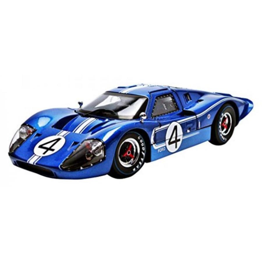 フォード ミニカー 1967 Ford GT MK IV #4 青 LeMans 24 Hours L.Ruby / D.Hulme 1/18 by Shelby Collectibles SC426 輸入品