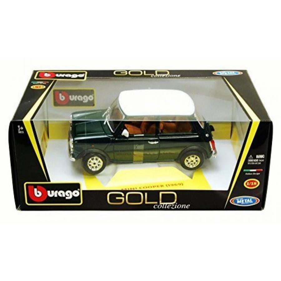 【送料無料】ミニカー 1969 Mini Cooper, 緑 - Bburago 12036 - 1/18 scale Diecast Model Toy Car 輸入品