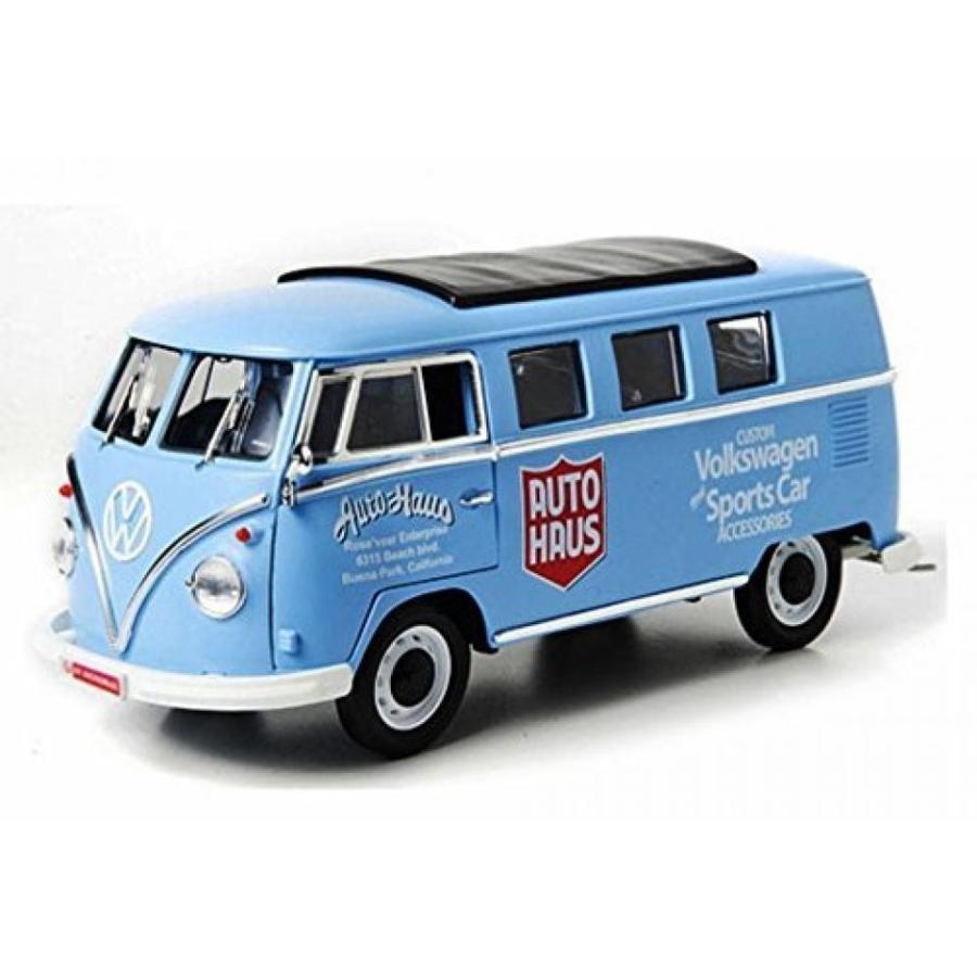 【送料無料】ミニカー 1962 Volkswagen Microbus, Auto Haus, 青 - 緑light 12852 - 1/18 Scale Diecast Model Toy Car 輸入品