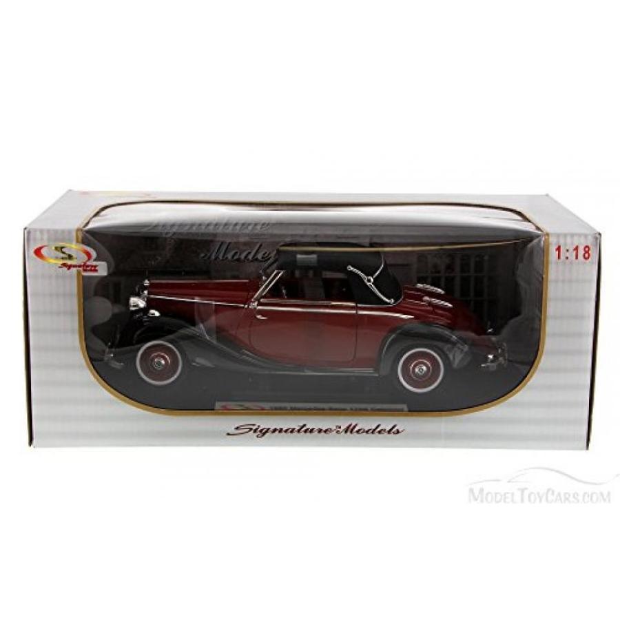 【送料無料】ミニカー 1950 Mercedes Benz 170S, 赤 - Signature Models 18123 - 1/18 Scale Diecast Model Toy Car 輸入品