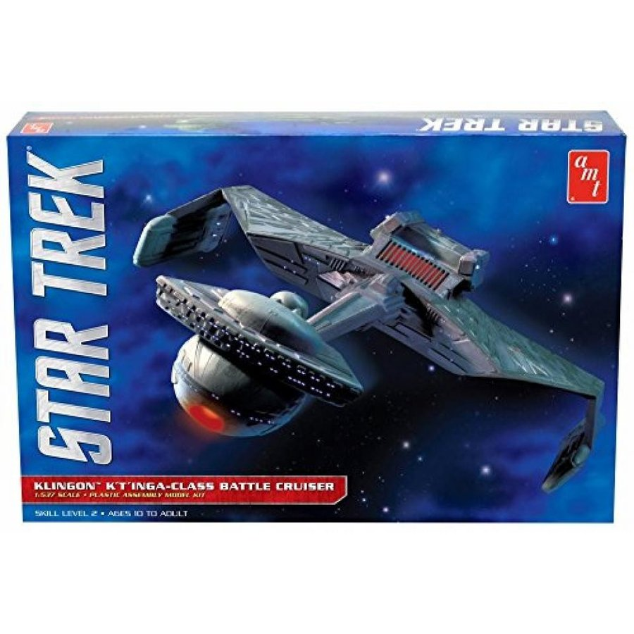 【送料無料】ミニカー Star Trek Klingon K'T' Inga-Class Battle Cruiser - Round 2 AMT - 1/537 scale model 輸入品